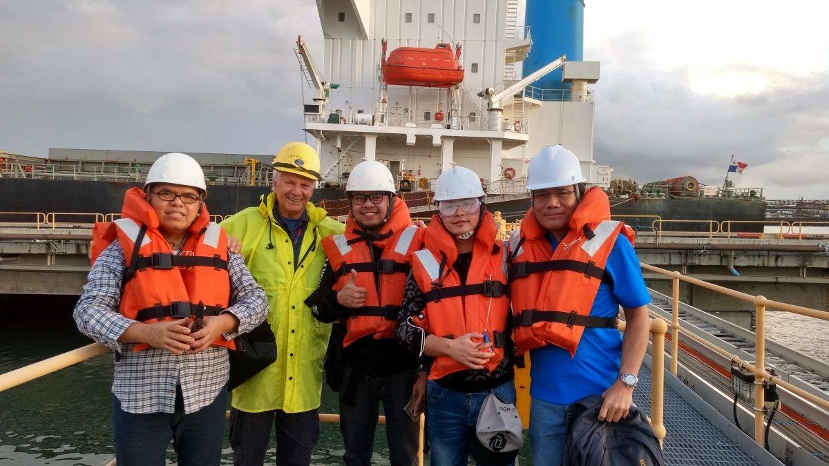 Seafarers on dock - mission to seafarers newcastle