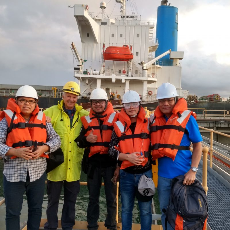 Seafarers on dock - mission to seafarers newcastle