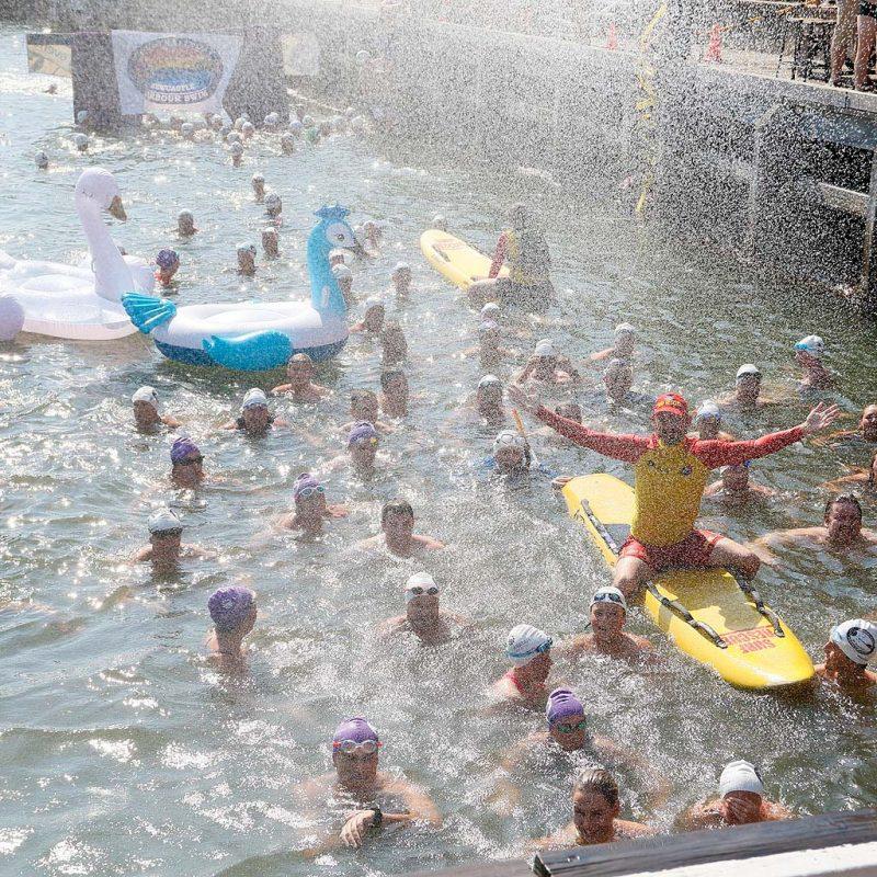 Newcastle Harbour Swim Classic for SLSC Australia