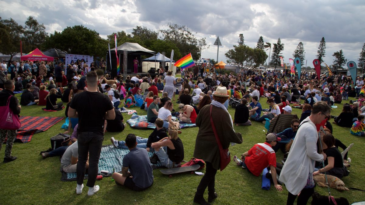 entire Newcastle Pride Festival setup
