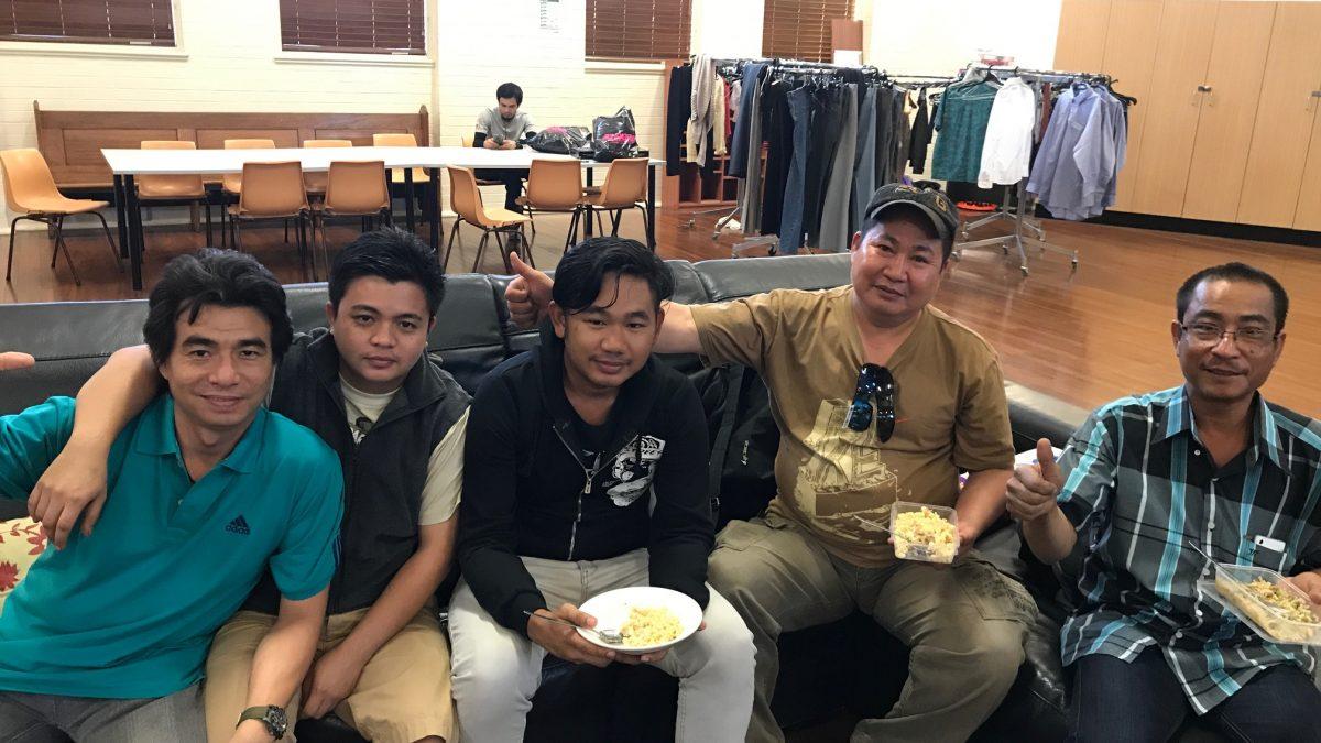 Seafarers on lounge at mission to seafarers newcastle