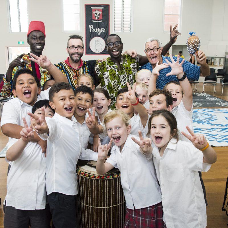 Musica Viva Australia and school children group photo