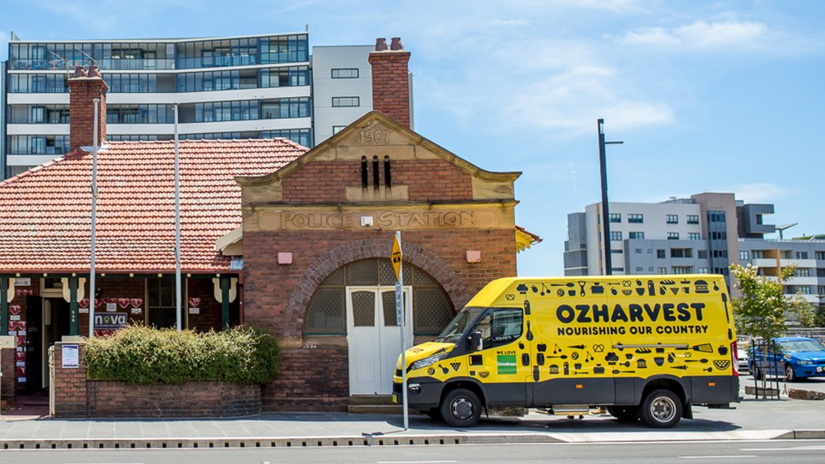 OzHarvest van in front of building
