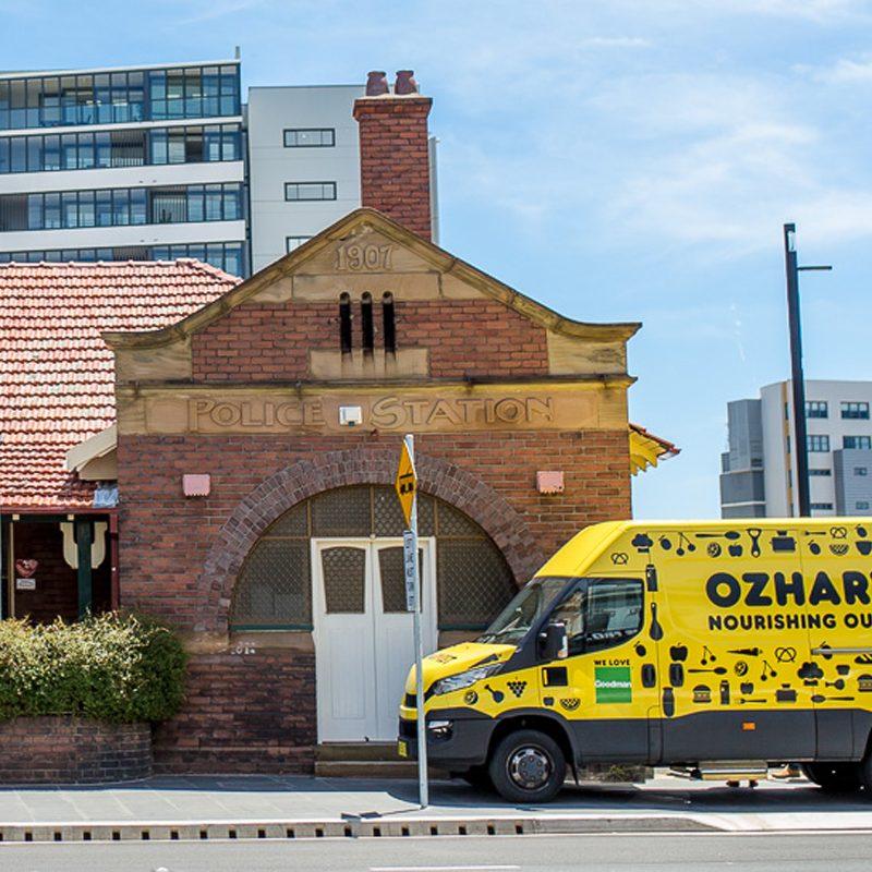 OzHarvest van in front of building
