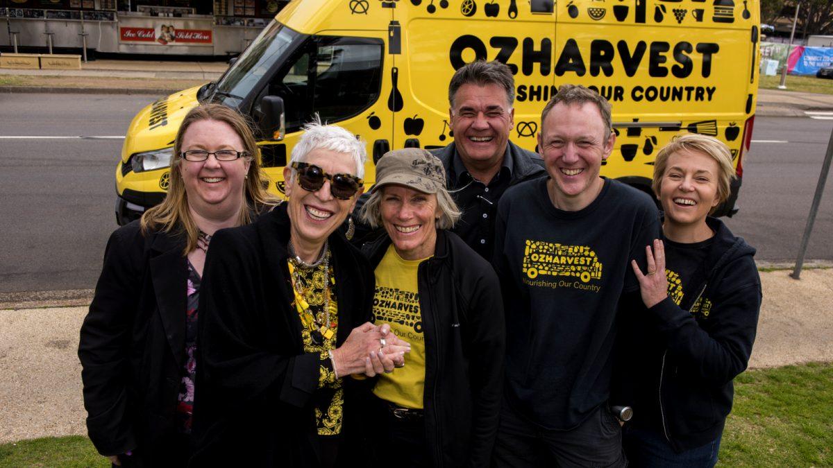 OzHarvest Volunteers in front of new van
