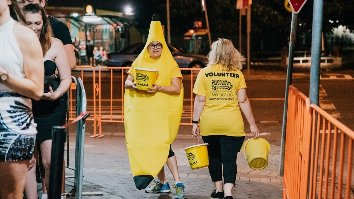 OzHarvest Volunteers collecting donations
